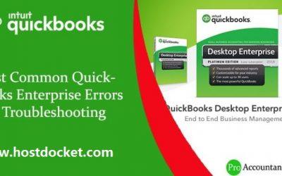 How to Troubleshoot Most Common QuickBooks Enterprise Errors?