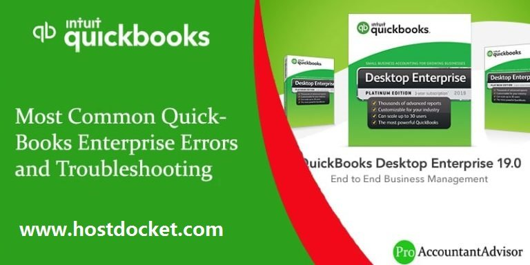 Most Common QuickBooks Enterprise Errors and Troubleshooting
