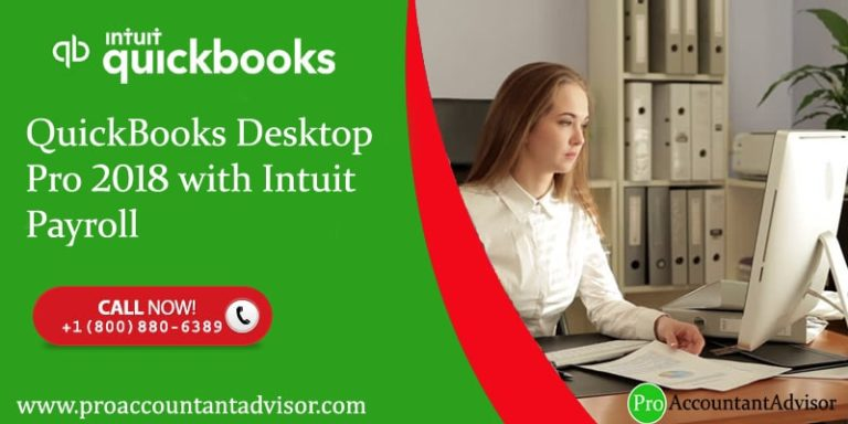 QuickBooks Desktop Pro 2018 with Intuit Payroll