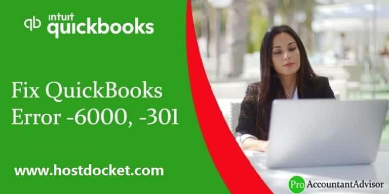 QuickBooks Error-6000,-301