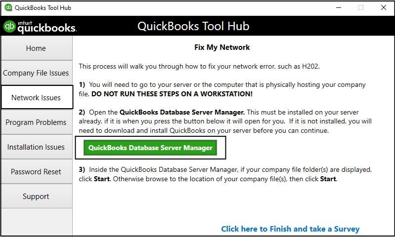 QuickBooks Database Server Manager - Screenshot