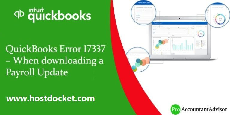 QuickBooks Error 17337–When downloading a Payroll Update