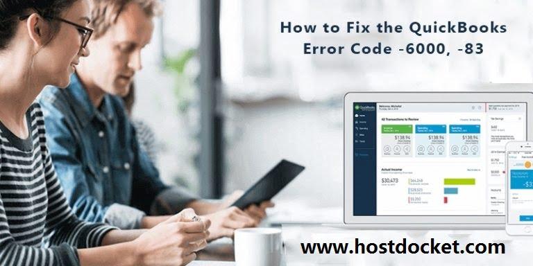 QuickBooks Error Code -6000,-83