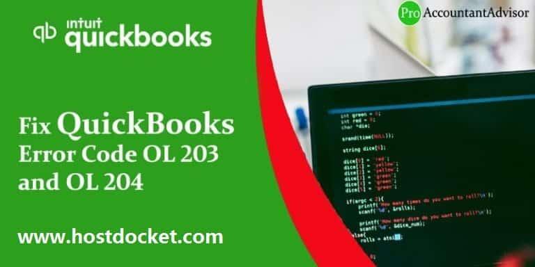 QuickBooks Error Code OL 203 and OL 204