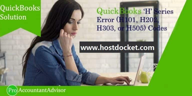 QuickBooks Error H101, H202, H303, or H505