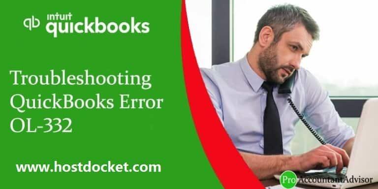 Troubleshooting QuickBooks Error OL-332