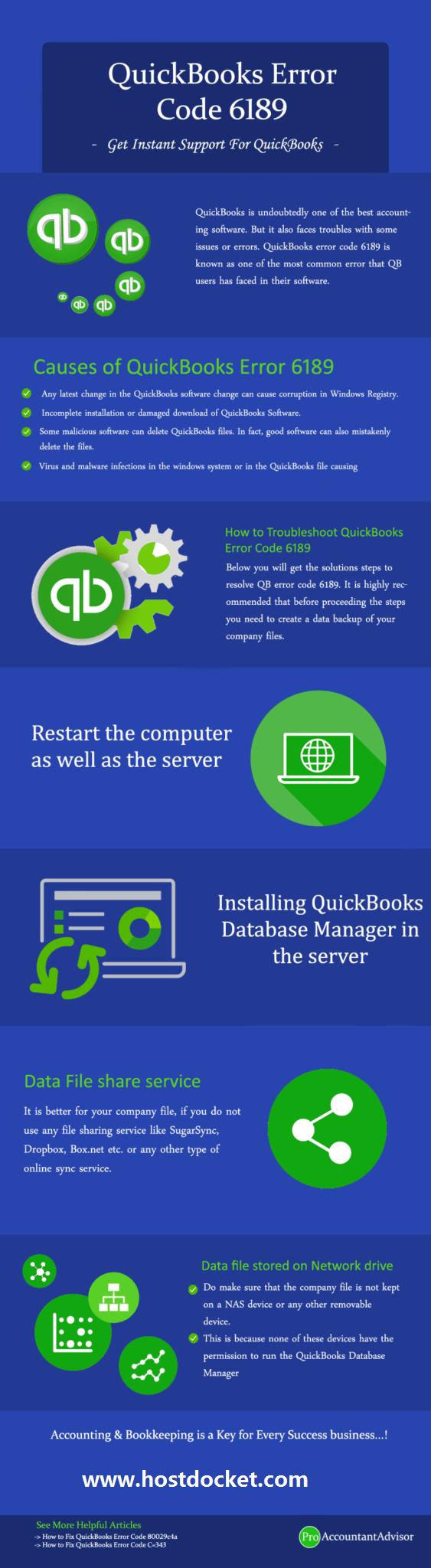 how to fix quickbooks error code 6189 Infographic