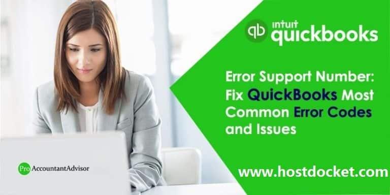 Fix QuickBooks Most Common Error Codes & Issues–Error Support Number