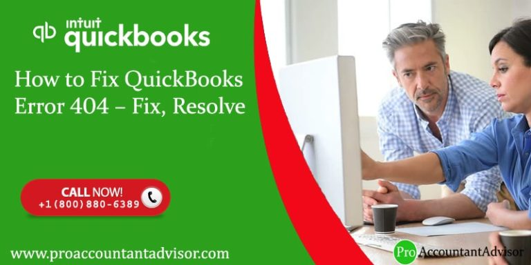 How to Fix QuickBooks Error 404