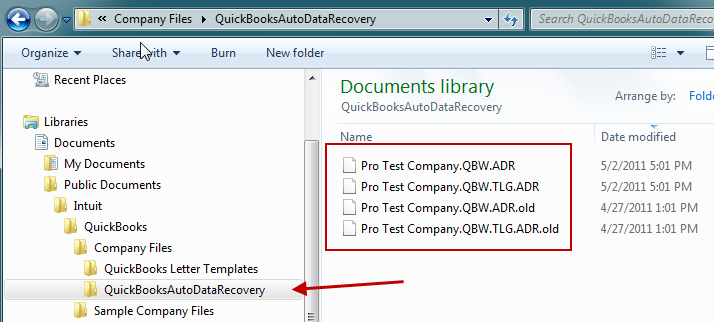 QuickBooks Auto Data Recovery tool - Screenshot