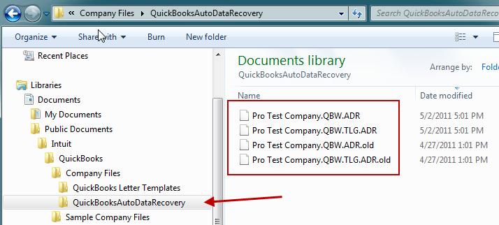 QuickBooks Auto Data Recovery tool - Screenshot