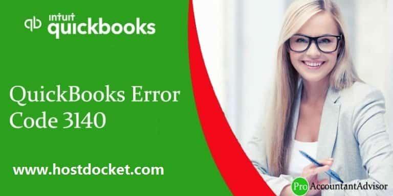 QuickBooks Error Code 3140