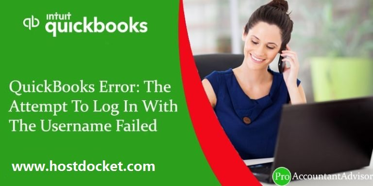 QuickBooks Error-The Attempt To Log In With The Username Failed