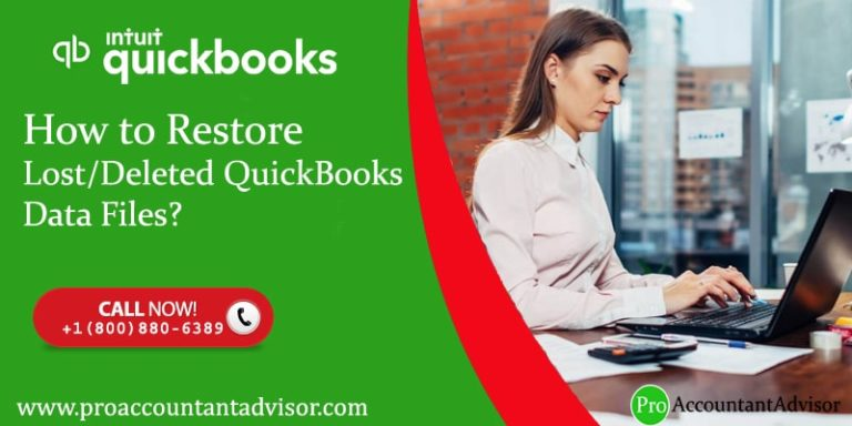 Restore Lost-Deleted QuickBooks Data Files