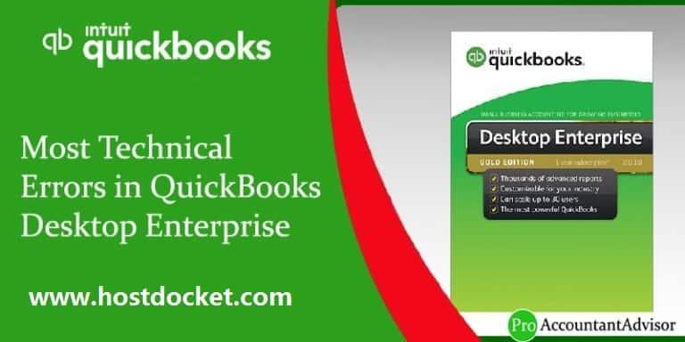 Most Technical Errors in QuickBooks Desktop Enterprise