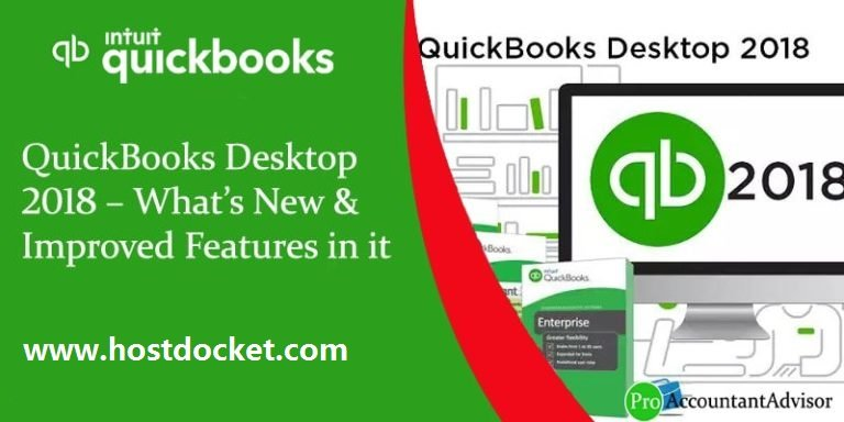 QuickBooks Desktop 2018–What's New-Improved Features in it