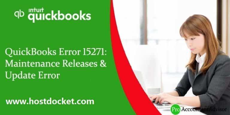 QuickBooks Error 15271-Maintenance Releases & Update Error