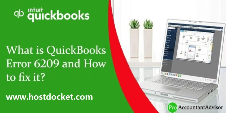 What is QuickBooks Error 6209 and How to fix it