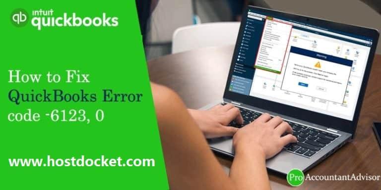 How to Fix QuickBooks Error code-6123, 0