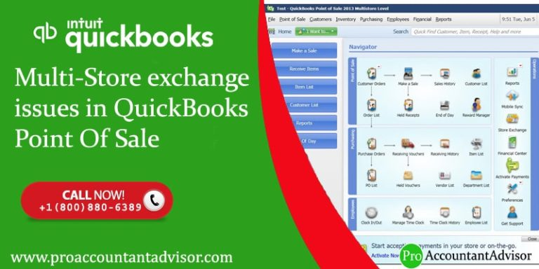 Multi-Store exchange issues in QuickBooks Point Of Sale
