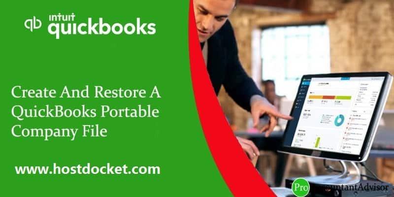 Create And Restore A QuickBooks Portable Company File