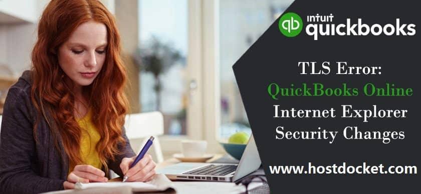 TLS Error-QuickBooks Online Internet Explorer Security Changes