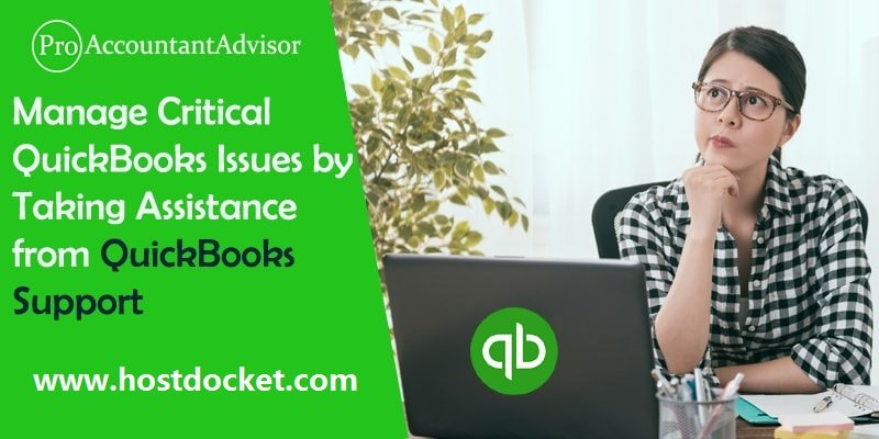 Manage Critical QuickBooks Issues by Taking Assistance from QuickBooks Support