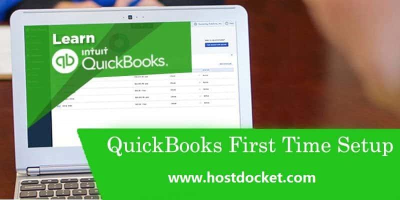 QuickBooks First Time Setup