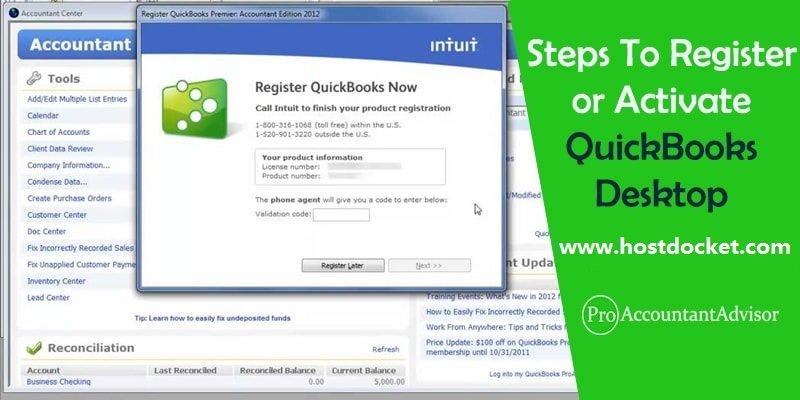 How to Register or Activate QuickBooks Desktop