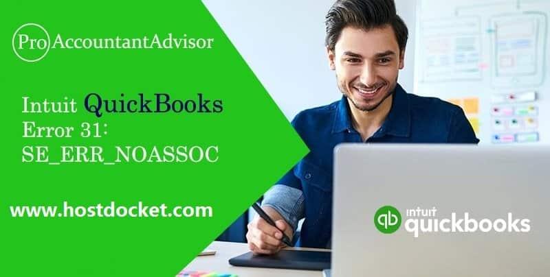 Intuit QuickBooks Error 31-SE_ERR_NOASSOC-Pro Accountant Advisor