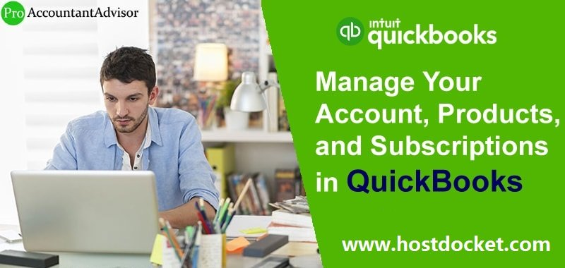Manage Your Account, Products, and Subscriptions in QuickBooks-Pro Accountant Advisor
