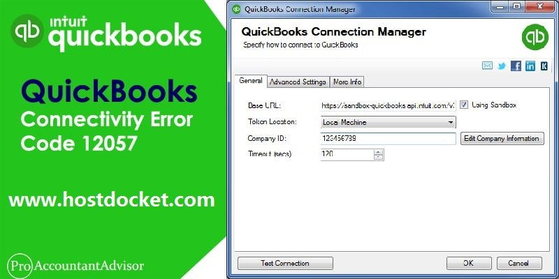 QuickBooks Connectivity Error Code 12057-Pro Accountant Advisor