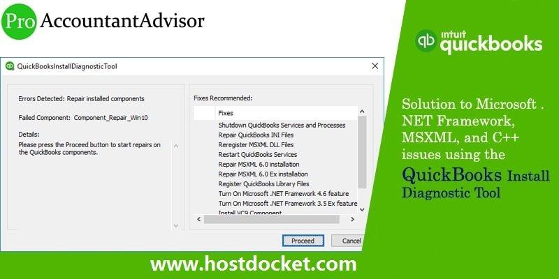 QuickBooks Install Diagnostic Tool – Fix Microsoft .NET Framework, MSXML, and C++ Issues-Pro Accountant Advis