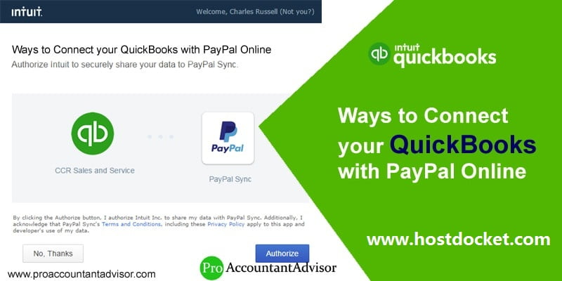 Ways to Connect your QuickBooks with PayPal Online-Pro Accountant Advisor
