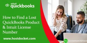 How to Find a Lost QuickBooks Product & Intuit License Number-Pro- Accountant Advisor