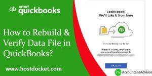 How to Rebuild-Verify Data File in QuickBooks-Pro-Accountant-Advisor