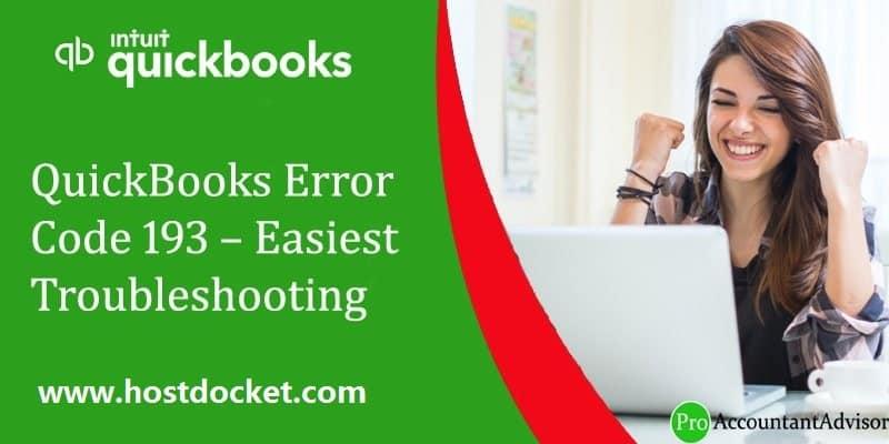 QuickBooks Error Code 193-Easiest Troubleshooting Steps-Pro-Accountant-Advisor