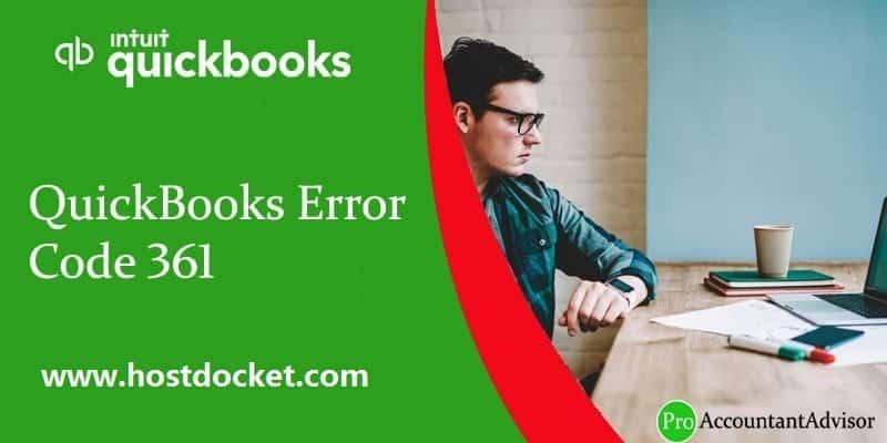 QuickBooks Error Code 361-Pro Accountant Advisor