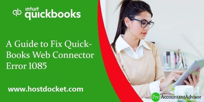 How to Fix QuickBooks Web Connector Error