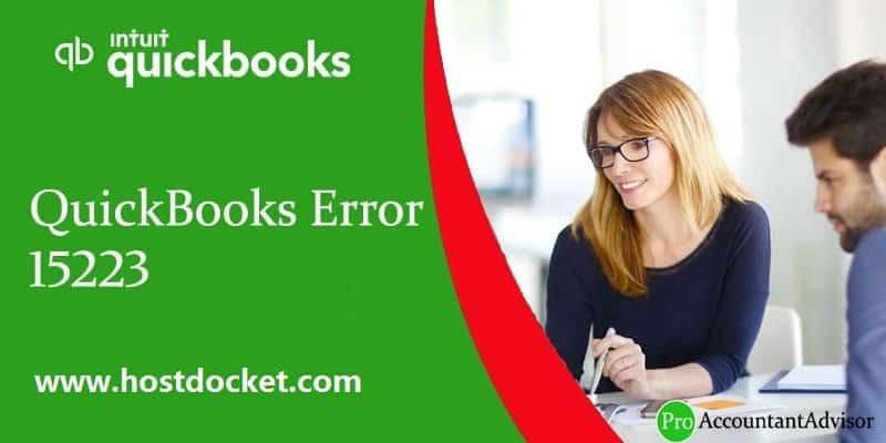 QuickBooks Error 15223-Pro Accountant Advisor