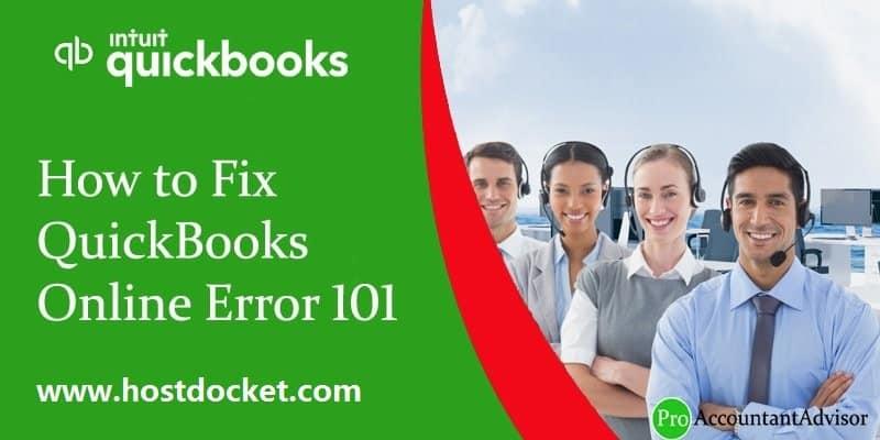 QuickBooks Online Error 101-ProAccountantAdvisor