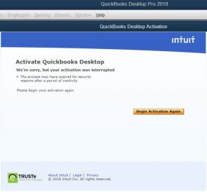 Activate QuickBooks desktop - Screenshot