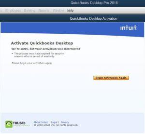 Activate QuickBooks desktop - Screenshot