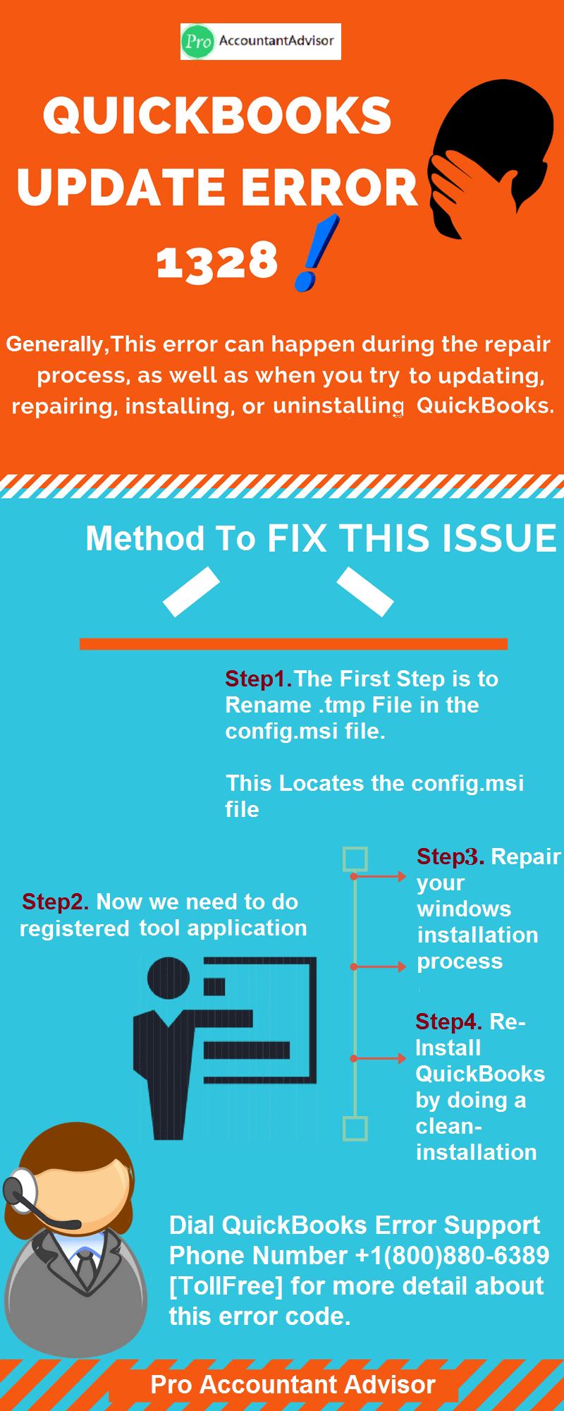 Solution of QuickBooks Error 1328 (Infographic) - Pro Accountant Advisor