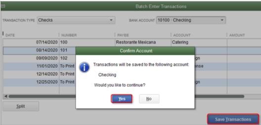 In order to use Class in QuickBooks Desktop - Screenshot