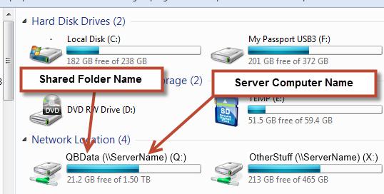 Open the file via the UNC path