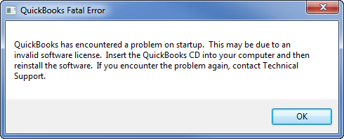 quickbooks fatal error - Screenshot