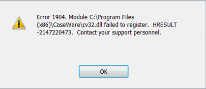 QuickBooks Error Message Code 1904