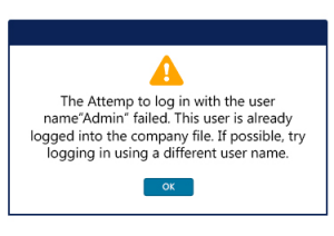 QuickBooks Error The Attempt To Log In With The Username Failed