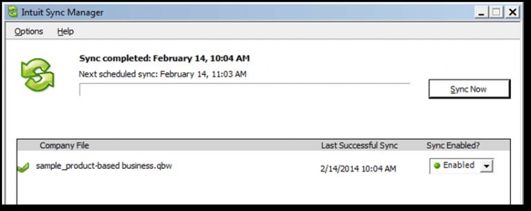 QuickBooks Sync Manager Error Message - Screenshot